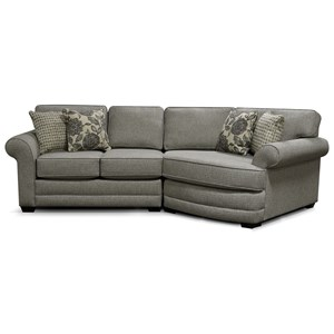 3 Seat Sectional Sofa with Cuddler