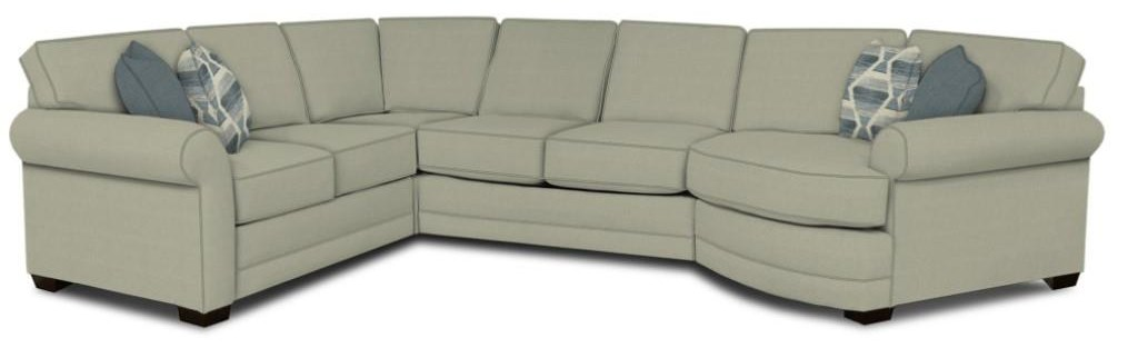 Brantley 4-Piece Sectional Sofa Cuddler by England at Esprit Decor Home Furnishings