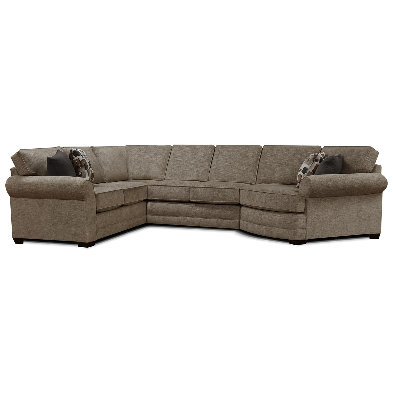 Brantley 4-Piece Sectional Sofa Cuddler by England at Rooms and Rest