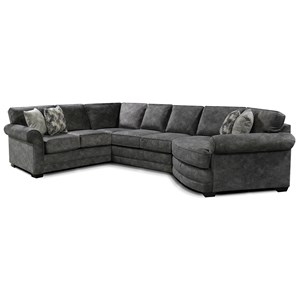 5 Seat Sectional Sofa with Cuddler