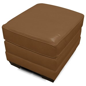 Upholstered Ottoman with Exposed Feet