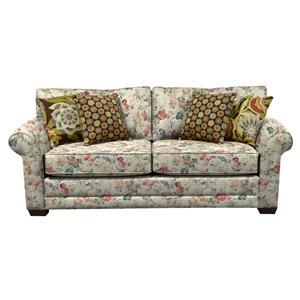 Plush Upholstered Queen Size Sleeper Sofa