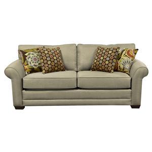 Plush Upholstered Queen Size Sleeper Sofa