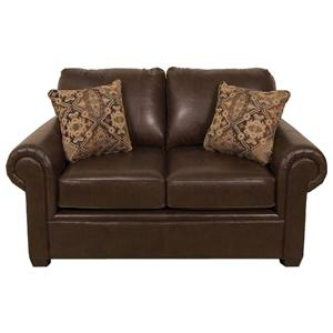 Leather Loveseat with Casual Furniture Style for Living Rooms