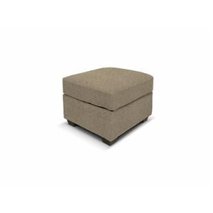 Welted Ottoman with Exposed Block Legs
