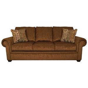 Queen Sleeper Sofa with Exposed Block Legs