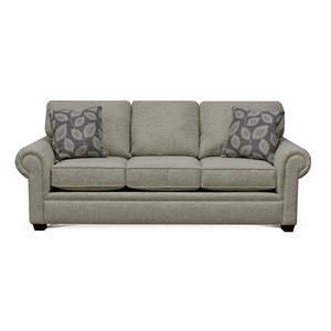 Rolled Arm Sofa with Block Legs