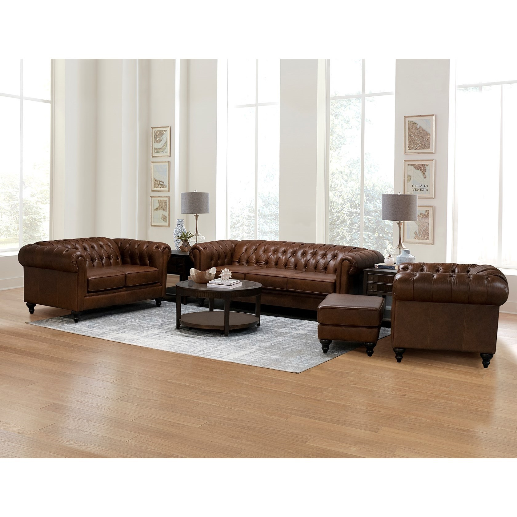 Brooks Stationary Living Room Group by England at Crowley Furniture & Mattress