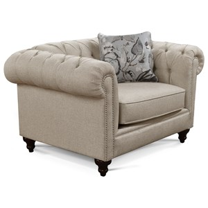 Traditional Chair with Button Tufting