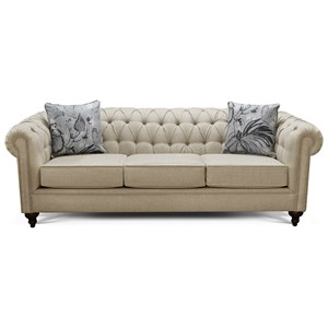 Traditional Chesterfield Sofa with Button Tufting