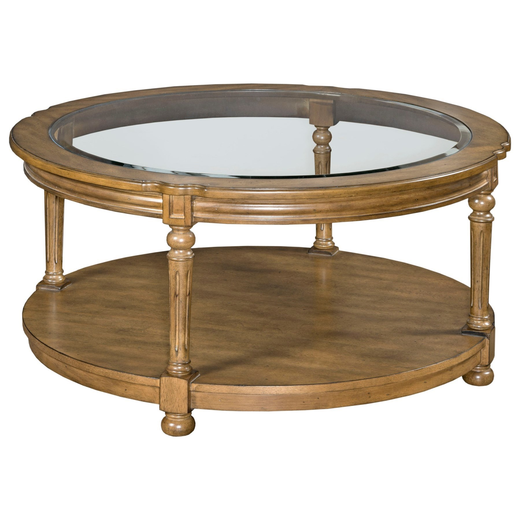 Candlewood Round Cocktail Table by England at Novello Home Furnishings