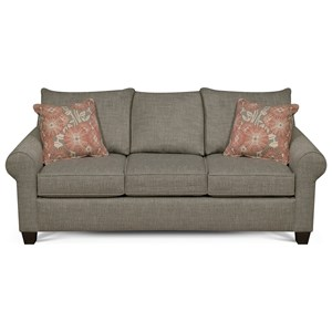 Casual Sofa with Rolled Arms