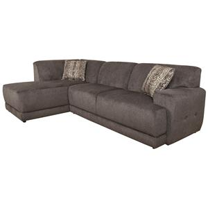 Contemporary Sectional Sofa with Left Facing Chaise