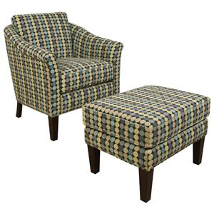England Denise  Chair and Ottoman Set