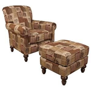 England Eliza Chair and Ottoman Set