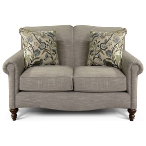 Traditional Upholstered Loveseat