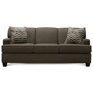 Transitional Sofa with Track Arms