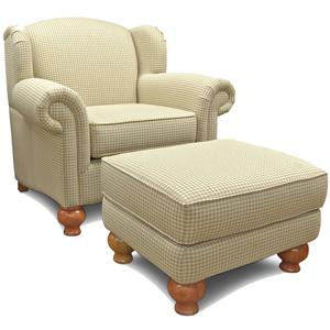 England Fairview Chair and Ottoman
