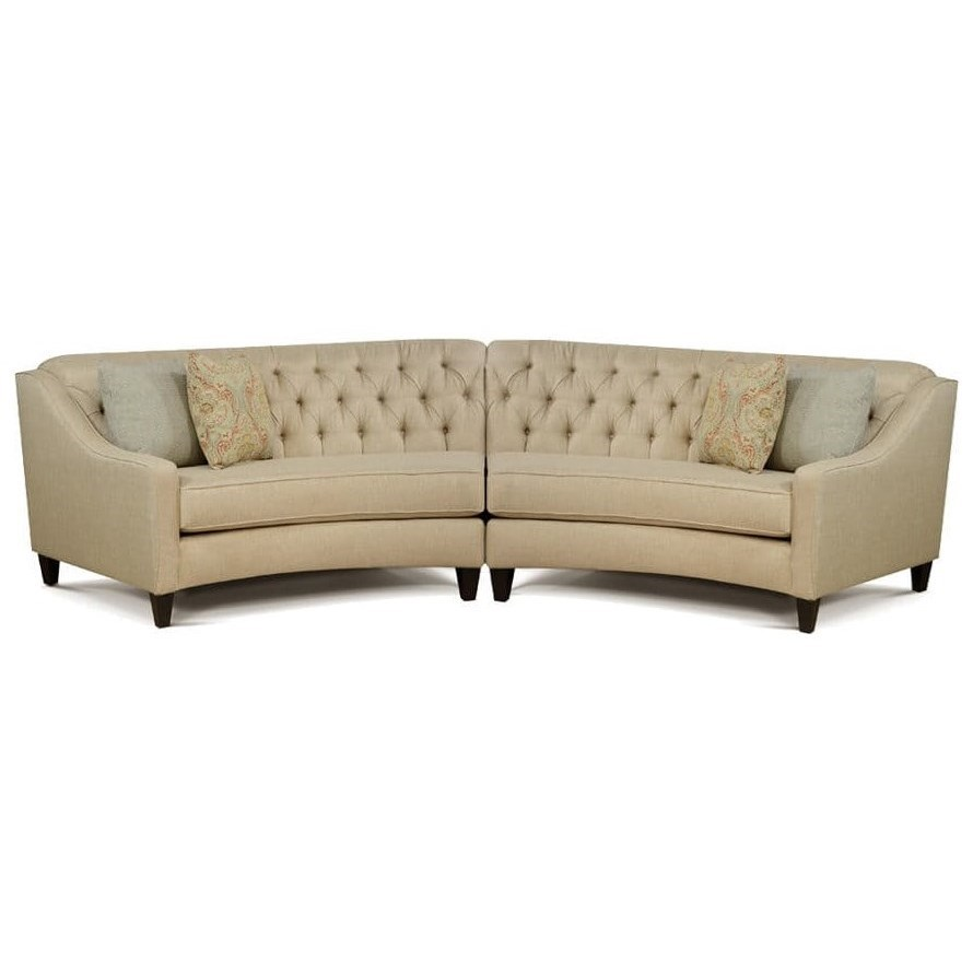 Finneran 2 Piece Curved Sectional Sofa  by England at Miller Waldrop Furniture and Decor