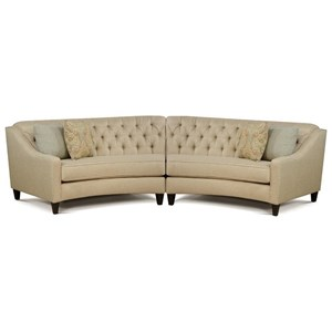 England Finneran 2 Piece Curved Sectional Sofa