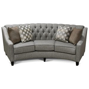 Round Sofa with Tufted Back