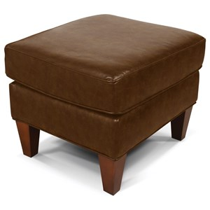 Smooth Upholstered Ottoman with Transitional Furniture Style