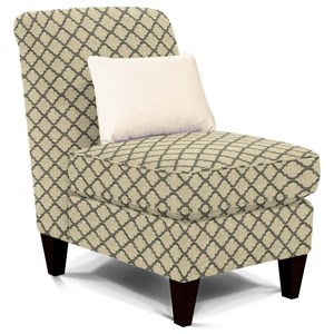 Armless Upholstered Chair