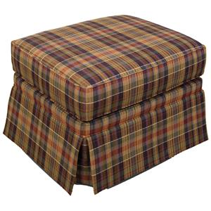 Ottoman with Skirted Base