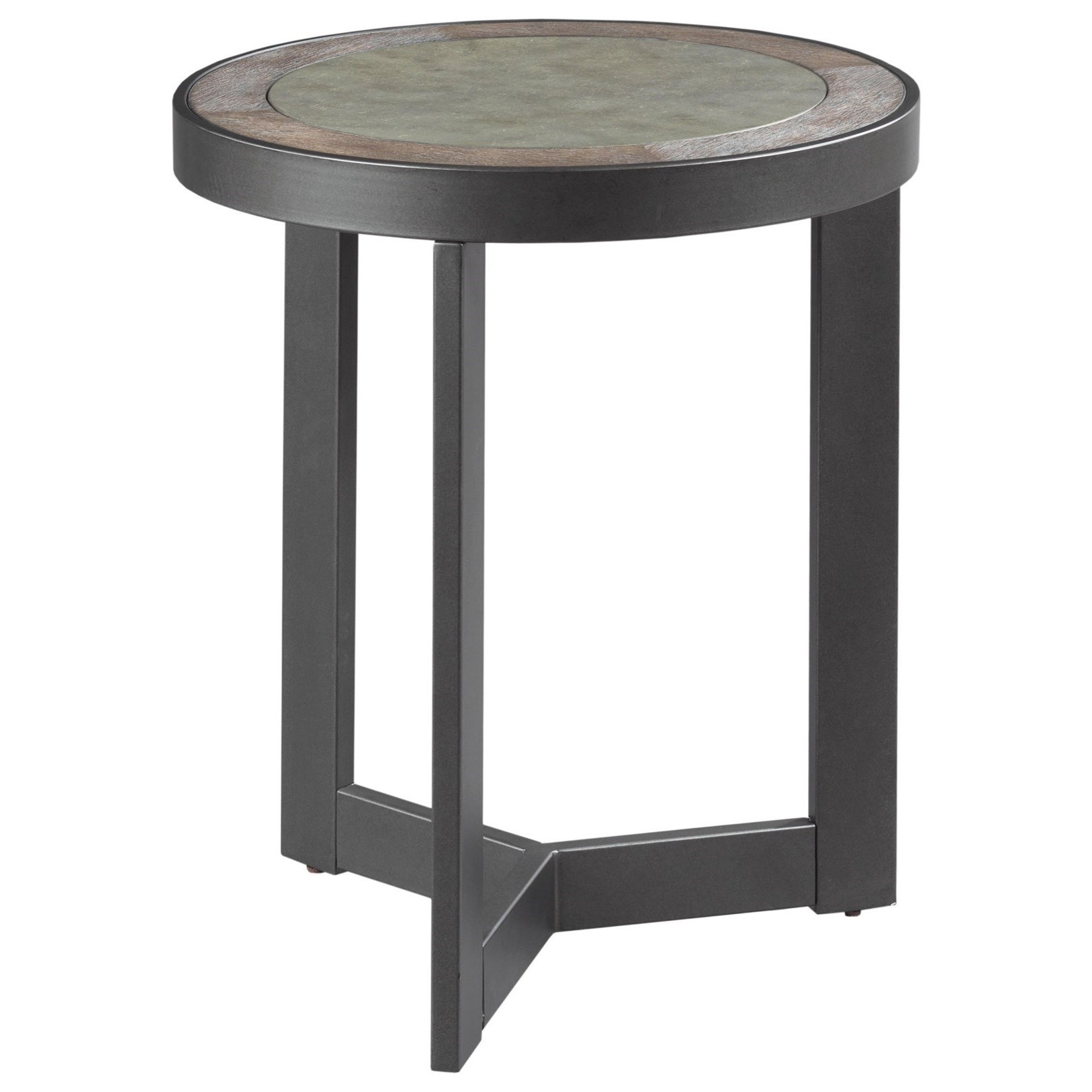 Graystone Round End Table by England at Darvin Furniture