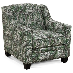 Contemporary Chair with Button Tufting