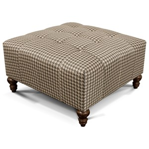 Ottoman with Tufted Seat