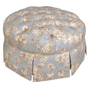 Button Tufted Round Ottoman