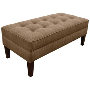 Living Room Ottoman with Matching Welt Cord Trim