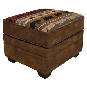 Ottoman with Tapered Block Feet