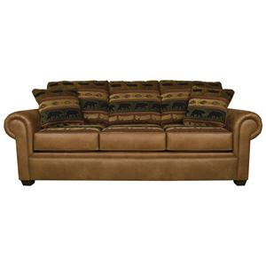 Traditional Styled Air Queen Size Sleeper Sofa