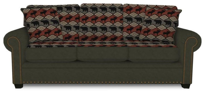 Traditional Styled Visco Queen Size Sleeper Sofa
