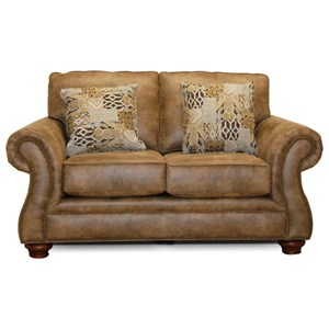 England Jeremie Two Cushion Loveseat with Nailheads
