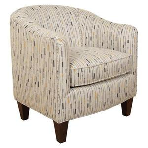 Contemporary Styled Upholstered Barrel Chair
