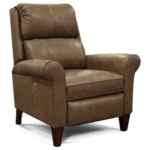 Transitional Leather Reclining Chair