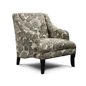 Living Room Arm Chair with Formal Cottage Style