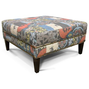 Ottoman with Nailhead Trim