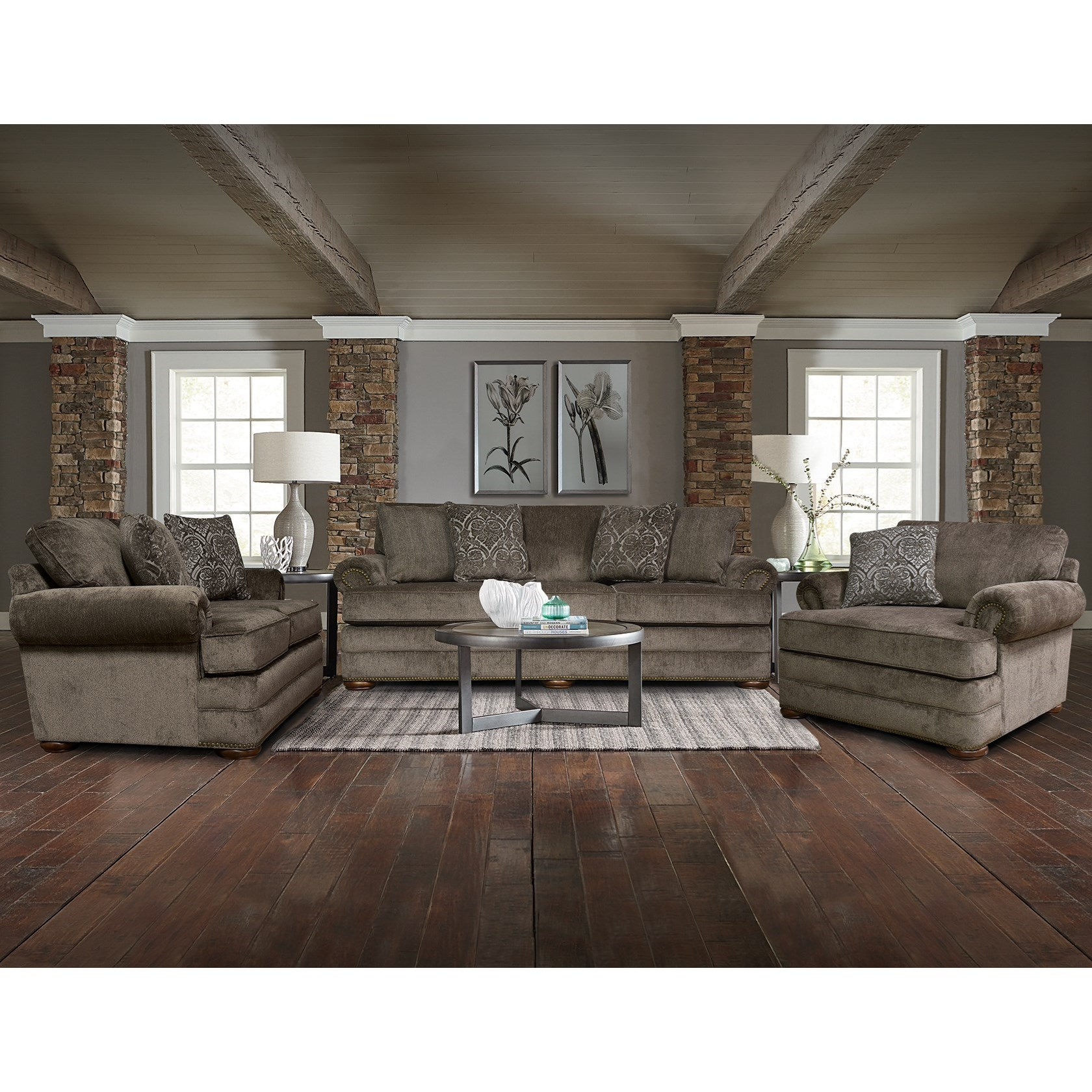 Knox Stationary Living Room Group by England at Story & Lee Furniture