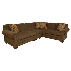 England Monroe Five Seat Sectional Sofa