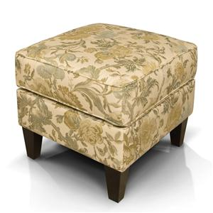 Tapered Leg Ottoman with Welted Box Cushion Top