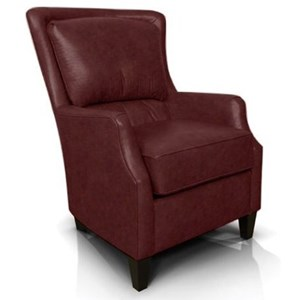 Upholstered Club Chair with Tapered Wood Feet