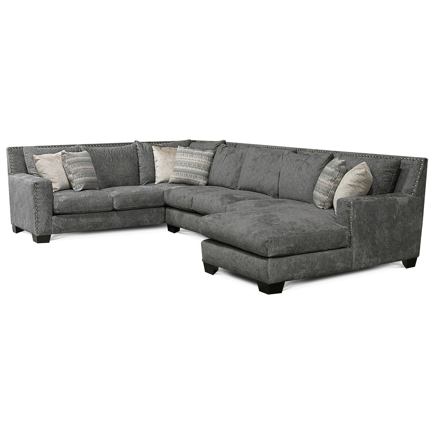 Luckenbach Sectional Sofa with Chaise by England at Virginia Furniture Market