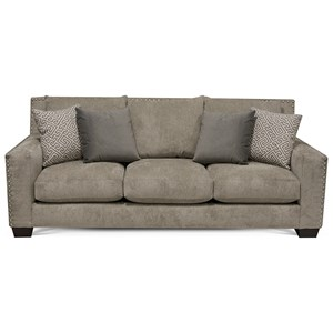Contemporary Sofa with Nailhead Trim