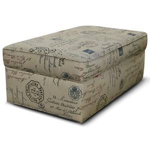 Rectangular Storage Ottoman with Casters