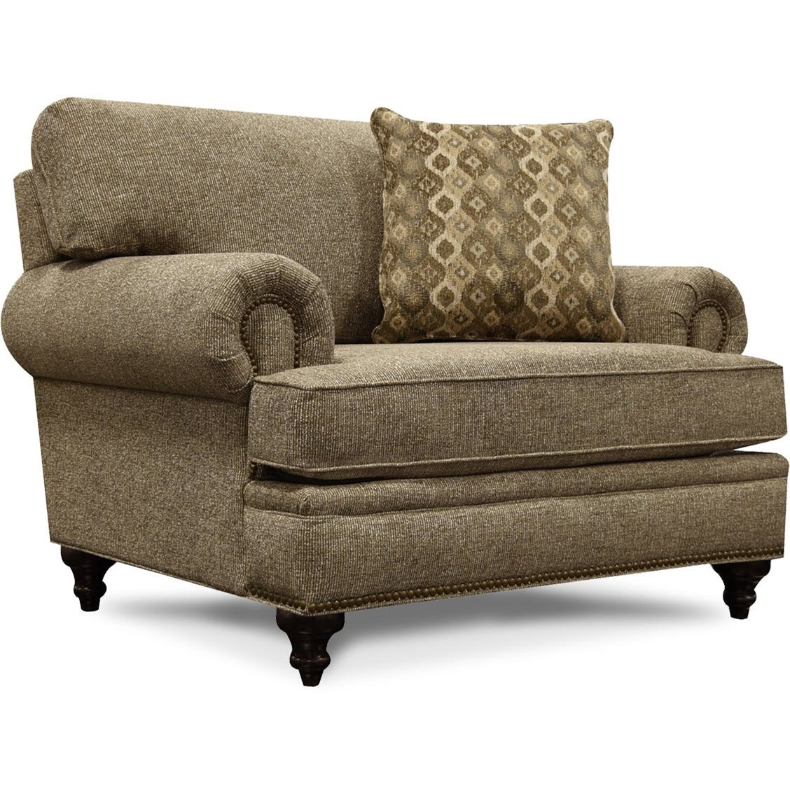 June Chair & 1/2 with Nailhead Trim by England at Miller Waldrop Furniture and Decor