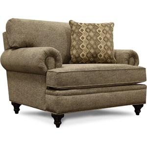 Chair & 1/2 with Nailhead Trim